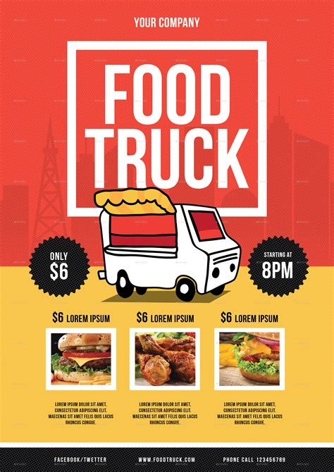 food truck menu template food truck flyer by lilynthesweetpea graphicriver