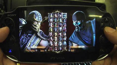 Psvita Mortal Kombat By Waroengame ps vita mortal kombat alternate fatalities costumes