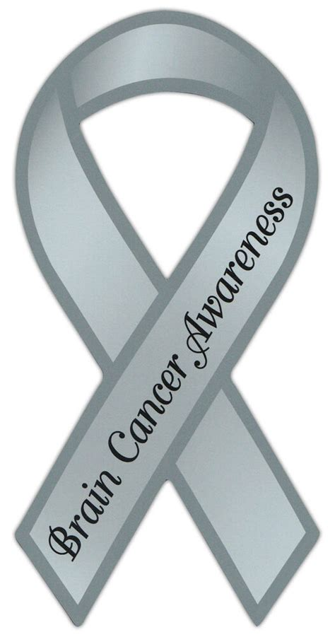 brain cancer color ribbon awareness support magnet brain cancer cars