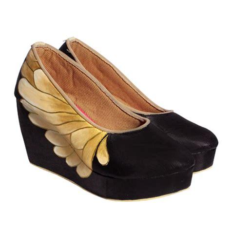Sepatu Santaiformal Circle Handmade 05 sepatu lukis butterfly wedges hitam