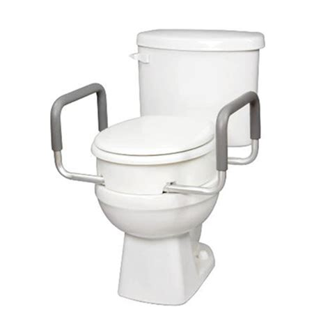 carex raised toilet seat  handles  standard