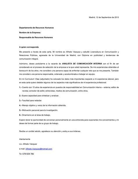 Nuevos Modelos De Carta Para Solicitar Trabajo En Empresa | modelo de carta de presentaci 243 n 04 m 225 s entrevistas de