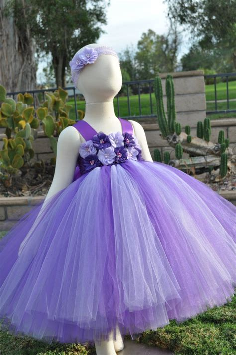 Flower Purple Dress purple lavender flower dress purple lavender toddler