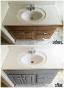 1 hour bathroom vanity makeover with sloan chalk