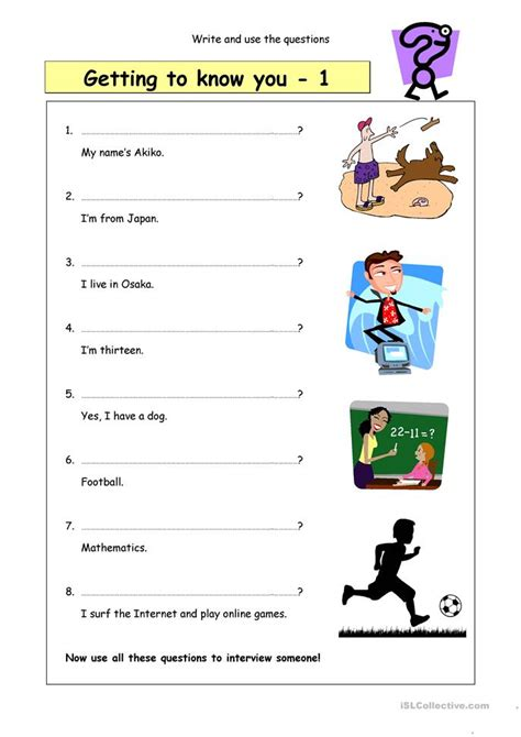 Getting To You Worksheet by 168 Free Esl Friends Worksheets
