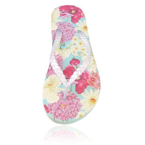 Handmade Flip Flops - 20 pairs of floral print flip flops in a handmade crate