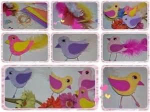 bricolage printemps oiseaux avec gabarit activit 233 s