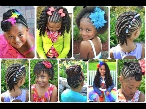 9 year old birthday hair stiyals cute black braided hairstyles for little girls youtube
