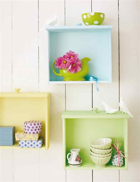 Turn Drawers Into Shelves by Repurposed Drawers Into Shelves