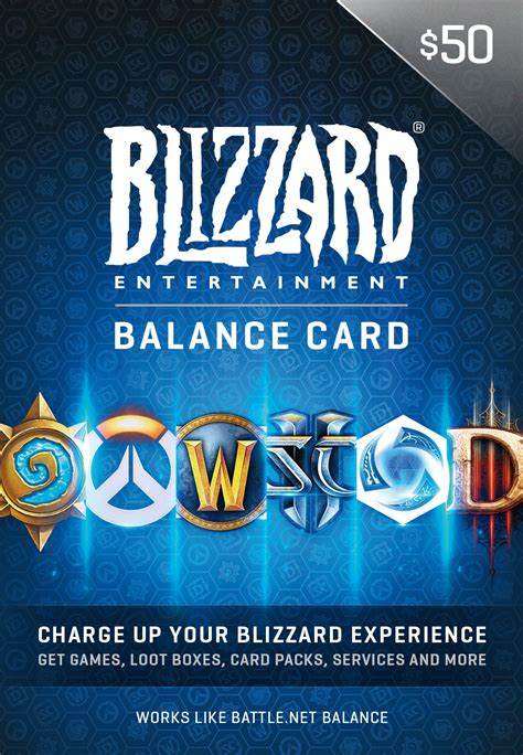 Battle Net Balance Gift Card - 50 battle net store gift card balance online game code only for 50 00 hifow