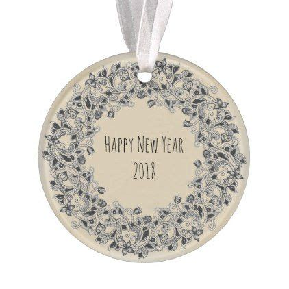 new year 2018 ornaments happy new year 2018 wreath design ornament simple gifts