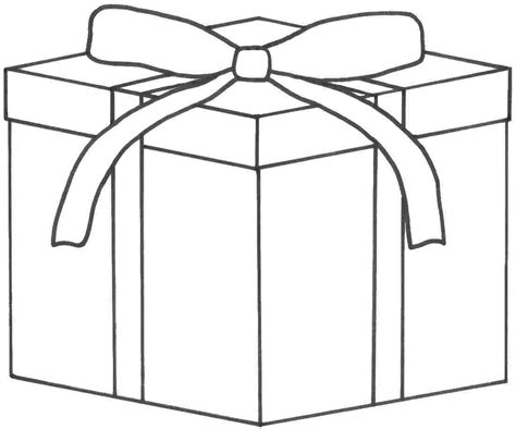 coloring pages of a christmas present 4 best images of christmas present template printable