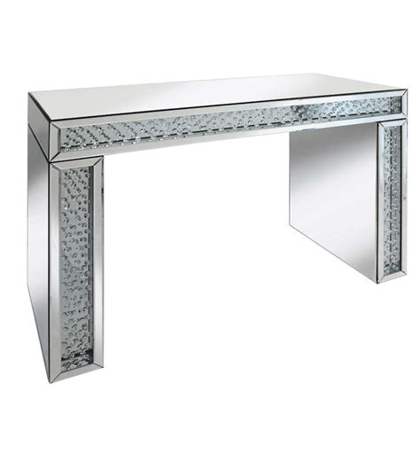 floating console table floating mirrored console table 3 chic