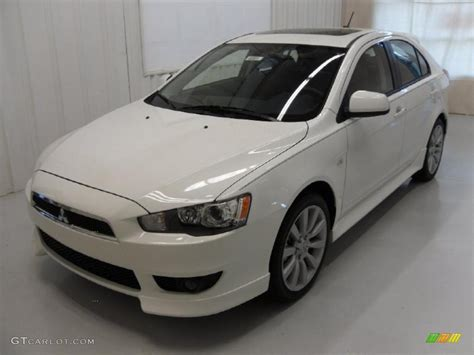lancer mitsubishi white 2010 wicked white metallic mitsubishi lancer sportback gts