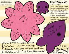 Kaos My Spirit Animal Rt309 kawaii octopus plushie template by sewingplush2point0