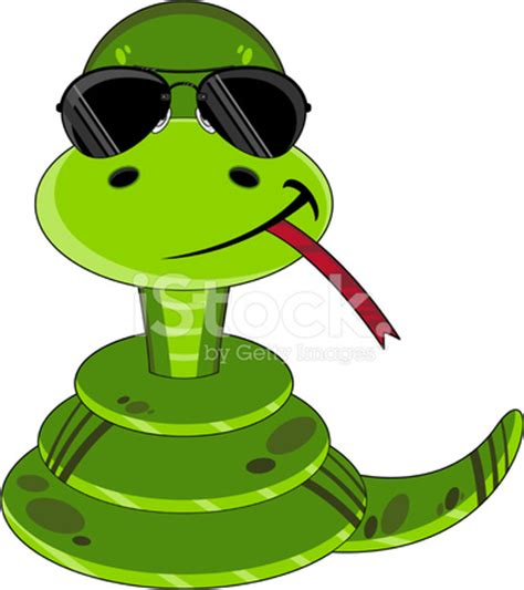 cartoon snake in sunglasses stock vector freeimages.com