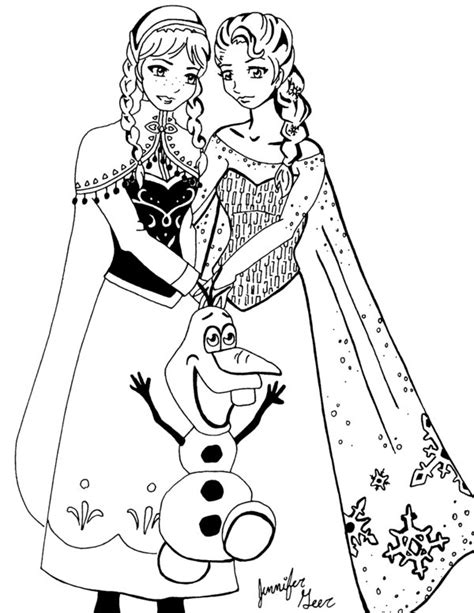 draw doodle coloring frozen 82 animation printable coloring pages