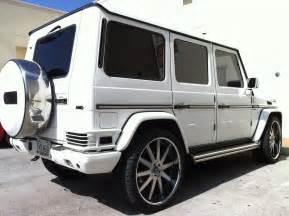 customized g wagon white mercedes g wagon with custom rims