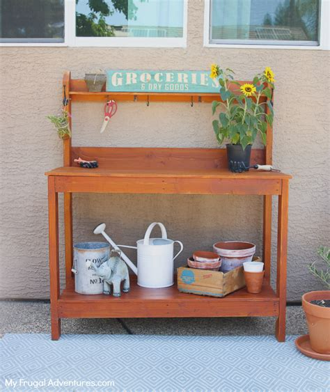 how to make a potting bench simple diy potting bench just 60 minutes and 60 my