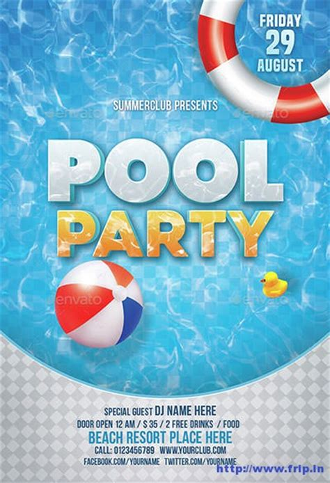 40 best summer pool party flyer print templates 2016 frip in