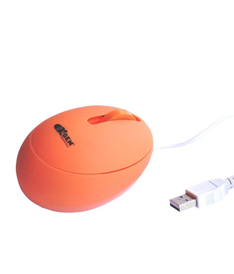 Mouse Oxygen oxygen egg mouse usb mouse orange buy computer mouse on snapdeal