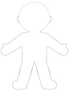 best photos of large printable paper doll template blank