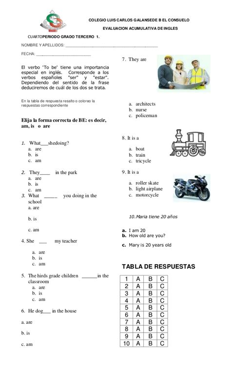 preguntas abiertas de ingles para secundaria 4 periodo acumulativa de ingles 2013