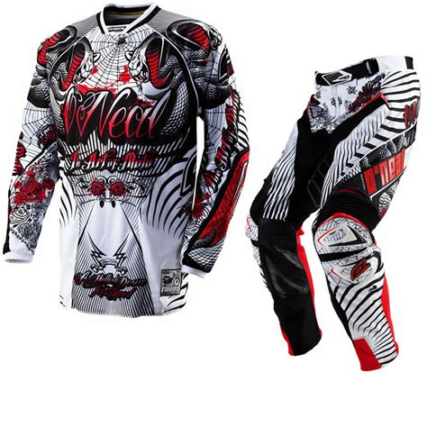 motocross jersey and combo oneal 2012 hardwear cobra white mx enduro motocross jersey