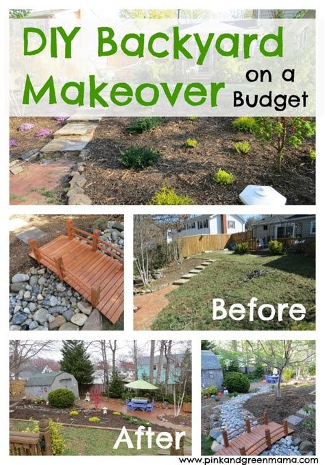 Backyard Makeover Ideas On A Budget with Pink And Green Diy Backyard Makeover On A Budget With Help From Hgtvgardens