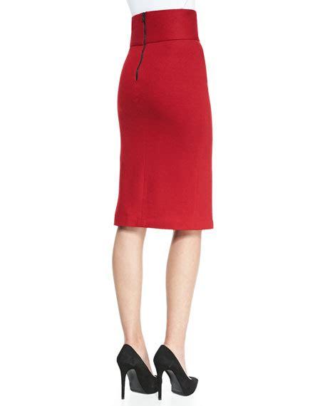 tani front slit knit pencil skirt