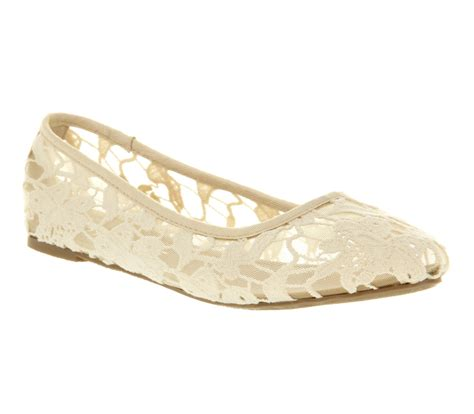 white lace flat shoes womens office macaroon white lace flats ebay