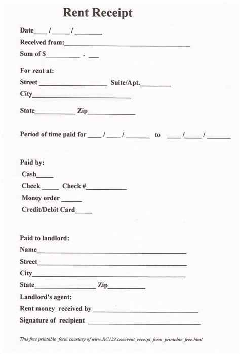 how write a receipt rent template new or printable forms for and