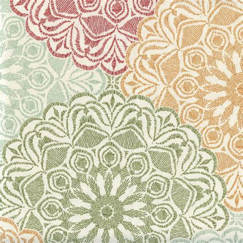 discount drapery fabric by the yard lace collage autumn red contemporary drapery fabric