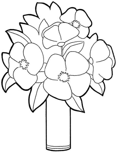 plants coloring pages preschool printable free bouquet flowers coloring sheets for