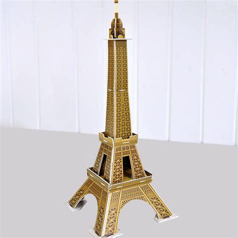 eiffel tower craft for make your own landmark eiffel tower craft kit rex