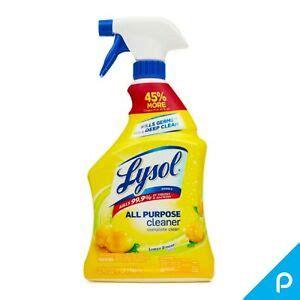 lysol  purpose cleaner spray lemon breeze  oz pack    ebay