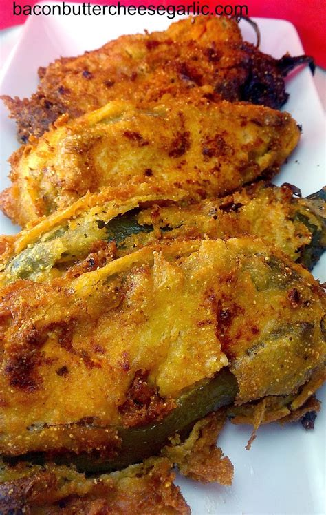 bacon butter cheese garlic stuffed hatch chile peppers