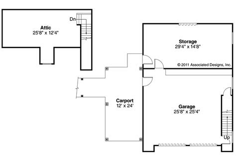 floor plan garage country house plans 2 car garage 20 075 associated designs