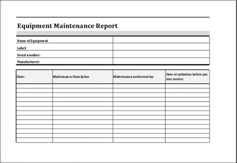 Equipment Maintenance Log Template Excel Heavy Principal Visualize Yet 4 Dreamswebsite Equipment Maintenance Log Template Excel