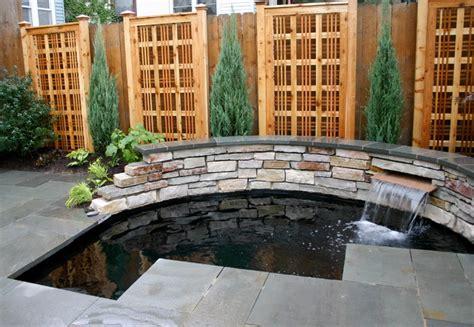 tiny yard with koi pond contemporary patio chicago