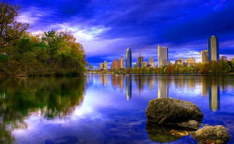 imagenes de paisajes relajantes hd fondo escritorio paisaje lago y ciudad