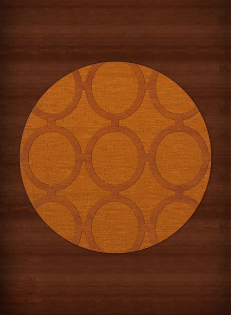 orange circle rug payless troy tr14 156 orange rug