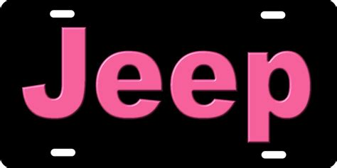 Jeep License Plates Personalized Novelty License Plate Pink Jeep Custom