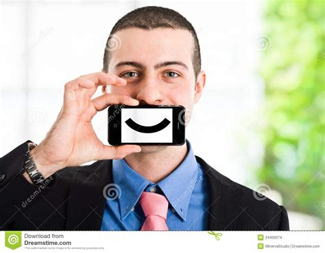 Or The Phone Smiling Phone Stock Images Image 24450274