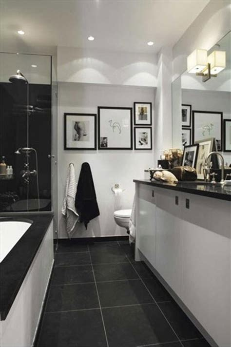 gray black and white bathroom 40 grey slate bathroom floor tiles ideas and pictures