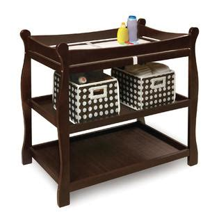 Sleigh Baby Changing Table Badger Basket Espresso Sleigh Style Baby Changing Table
