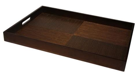 extra large serving tray for simply bamboo extra large 23 quot x 16 quot brown black bamboo