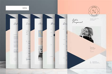 Sofia Pitch Pack Template For Adobe Indesign Indesign Template