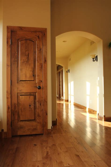 Rustic Interior Doors Interior Doors Knotty Alder 2 Panel Arch Top Door Is For A Rustic Home Bayer Built