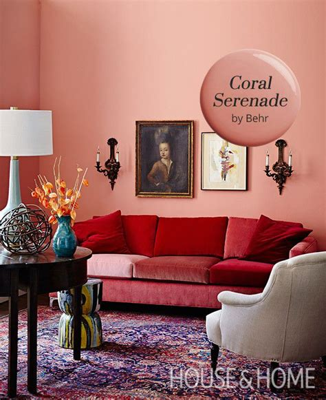 coral serenade  behr   paint color pick room